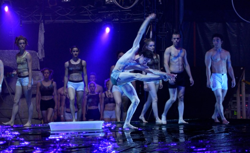 Water tableau in the National Circus School of Montreal's annual show