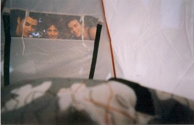 Waking up to street acrobat buddies travelling through Europe in tents